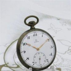 Relojes de bolsillo: OMEGA-RELOJ DE BOLSILLO-15 RUBÍES-2 TAPAS-CIRCA 1941-FUNCIONANDO. Lote 185741440
