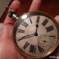 Relojes de bolsillo: ENORME RELOJ BOLSILLO GOLIAT FUNCIONANDO RAREZA MUY BUEN ESTADO VER FOTOS NÚMEROS ROMANOS PVP 450,00. Lote 180042106