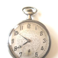 Relojes de bolsillo: RELOJ BOLSILLO AÑOS 20, 3 TAPAS DE PLATA, NO FUNCIONA. MED. 5 CM. Lote 185770806
