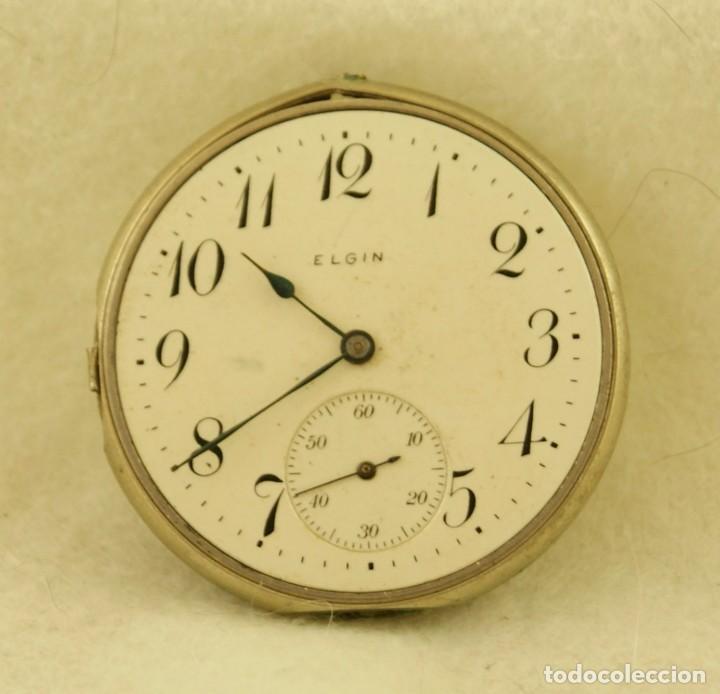 CALIBRE + ESFERA+ ARILLO ELGIN BOLSILLO PROCEDENTE RELOJ DE ORO 42MM (Relojes - Bolsillo Carga Manual)