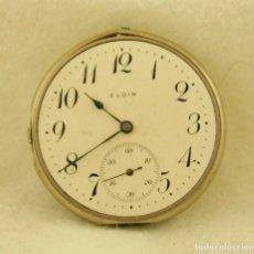 Relojes de bolsillo: CALIBRE + ESFERA+ ARILLO ELGIN BOLSILLO PROCEDENTE RELOJ DE ORO 42MM. Lote 185878626