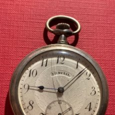 Relojes de bolsillo: ANTIGUO RELOJ DE BOLSILLO DE PLATA DE ÉPOCA MODERNISTA. Lote 185928518