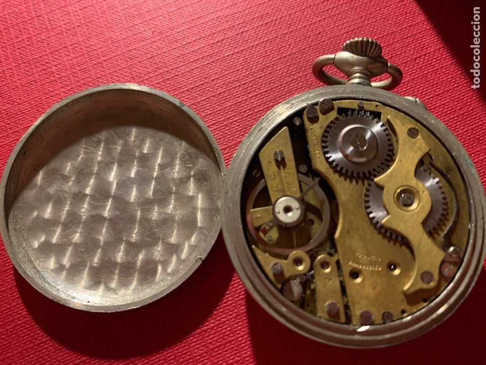 Relojes de bolsillo: Antiguo reloj de bolsillo Roskopf Patent. Funciona - Foto 4 - 185929085