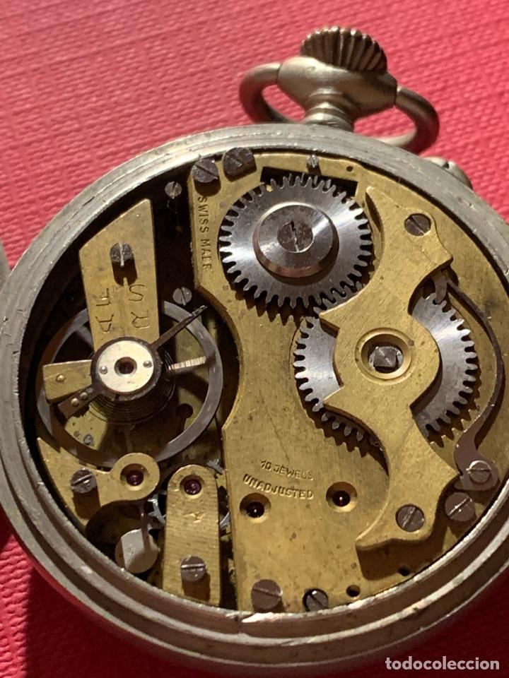 Relojes de bolsillo: Antiguo reloj de bolsillo Roskopf Patent. Funciona - Foto 5 - 185929085