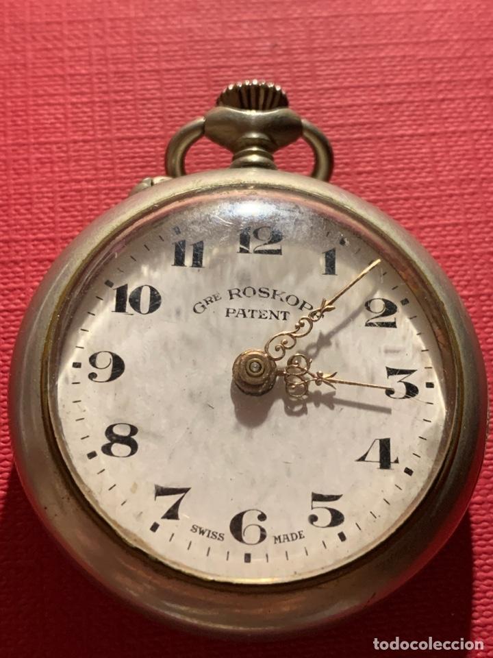 ANTIGUO RELOJ DE BOLSILLO ROSKOPF PATENT. FUNCIONA (Relojes - Bolsillo Carga Manual)