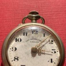 Relojes de bolsillo: ANTIGUO RELOJ DE BOLSILLO ROSKOPF PATENT. FUNCIONA. Lote 185929085