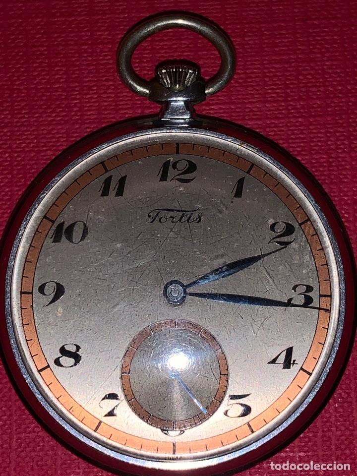 ANTIGUO RELOJ DE BOLSILLO FORTIS. ÉPOCA ART-DECÓ (Relojes - Bolsillo Carga Manual)