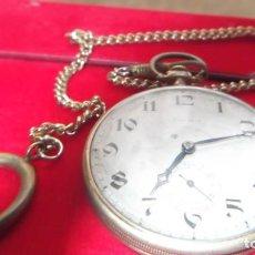 Relojes de bolsillo: RELOJ DE BOLSILLO CARGA MANUAL CHAPADO EN ORO - UNOS 70 AÑOS ANTIGUEDAD. Lote 186043413