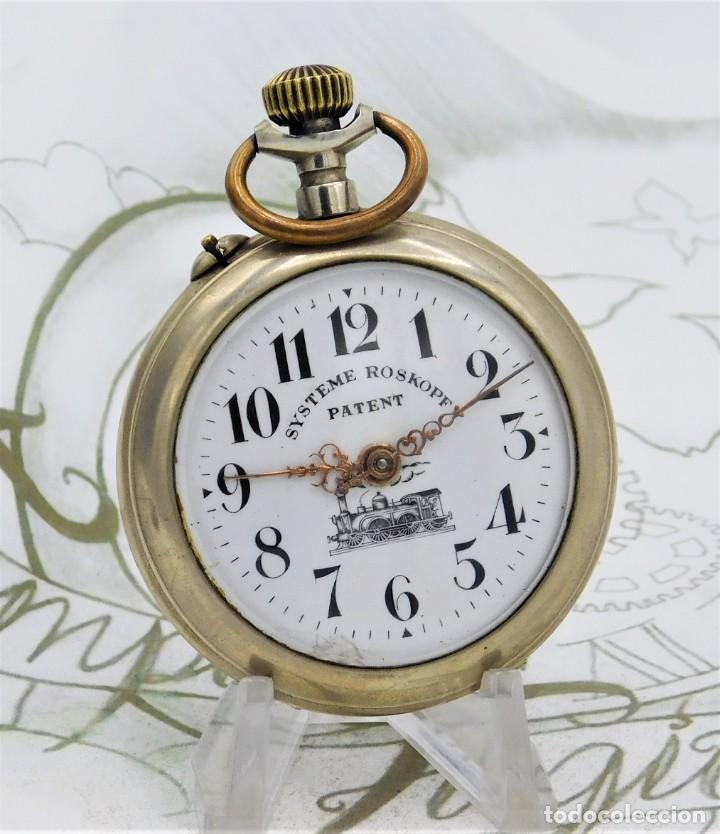 SYSTEME ROSKOPF PATENT-RELOJ DE BOLSILLO-CIRCA 1900-FUNCIONANDO (Relojes - Bolsillo Carga Manual)