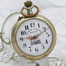 Relojes de bolsillo: SYSTEME ROSKOPF PATENT-RELOJ DE BOLSILLO-FERROCARRIL-CIRCA 1900-FUNCIONANDO. Lote 186064430