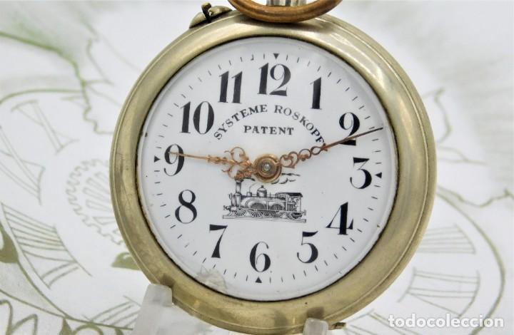 Relojes de bolsillo: SYSTEME ROSKOPF PATENT-Reloj de bolsillo-CIRCA 1900-FUNCIONANDO - Foto 4 - 186064430