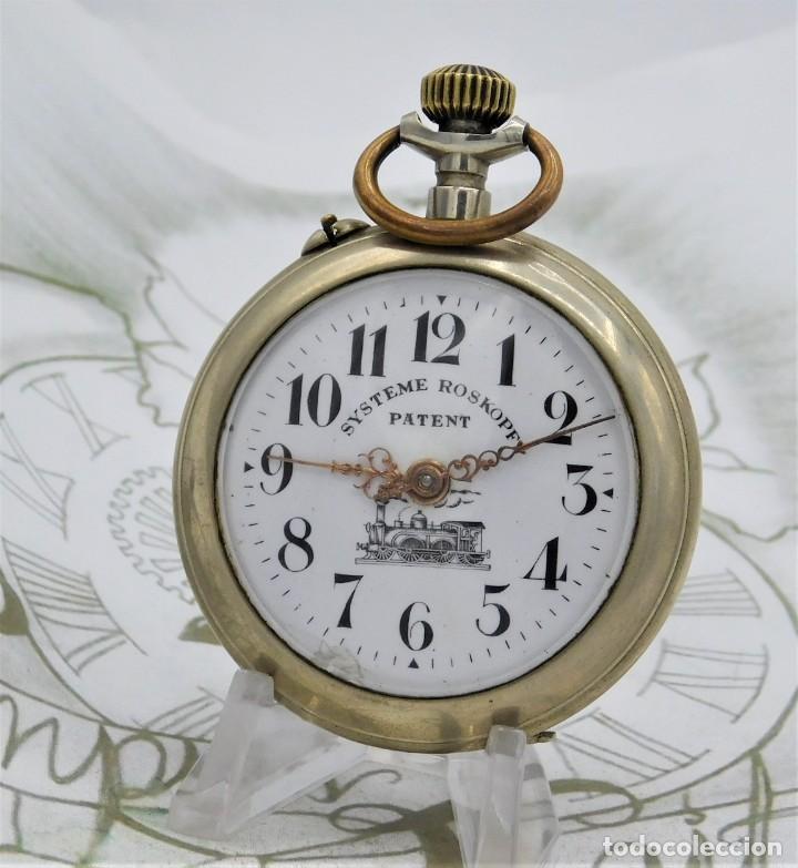 Relojes de bolsillo: SYSTEME ROSKOPF PATENT-Reloj de bolsillo-CIRCA 1900-FUNCIONANDO - Foto 12 - 186064430