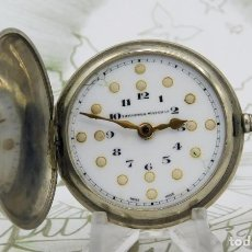 Relojes de bolsillo: RARO-TAVANNES WATCH CO.-RELOJ DE BOLSILLO SABONETA-ESFERA BRAILLE-CIRCA 1920-3 TAPAS-FUNCIONANDO. Lote 136060330