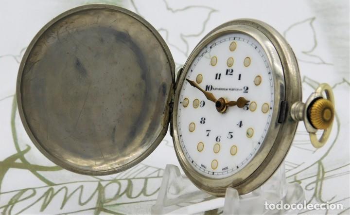 Relojes de bolsillo: RARO-TAVANNES WATCH Co.-RELOJ DE BOLSILLO SABONETA-ESFERA BRAILLE-CIRCA 1920-3 TAPAS-FUNCIONANDO - Foto 4 - 136060330