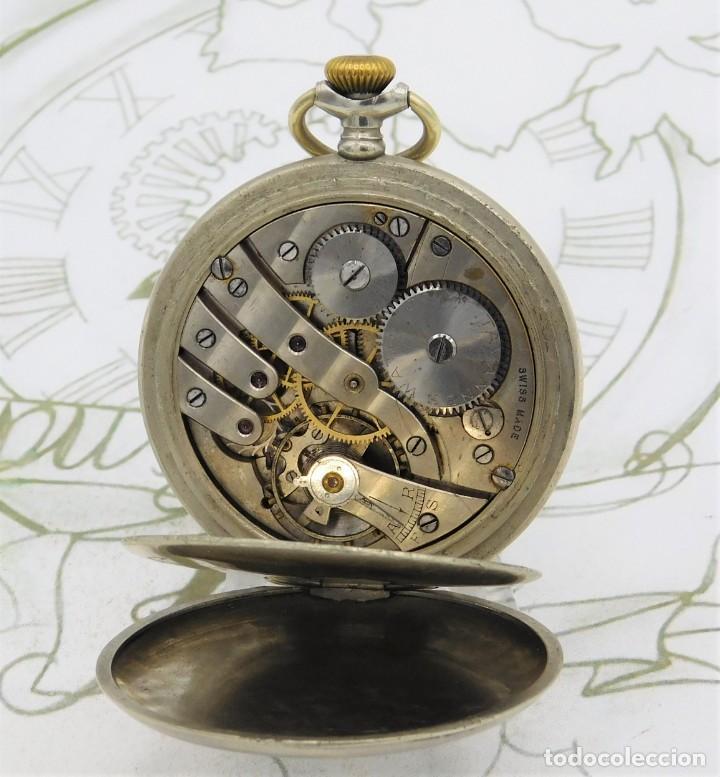 Relojes de bolsillo: RARO-TAVANNES WATCH Co.-RELOJ DE BOLSILLO SABONETA-ESFERA BRAILLE-CIRCA 1920-3 TAPAS-FUNCIONANDO - Foto 7 - 136060330