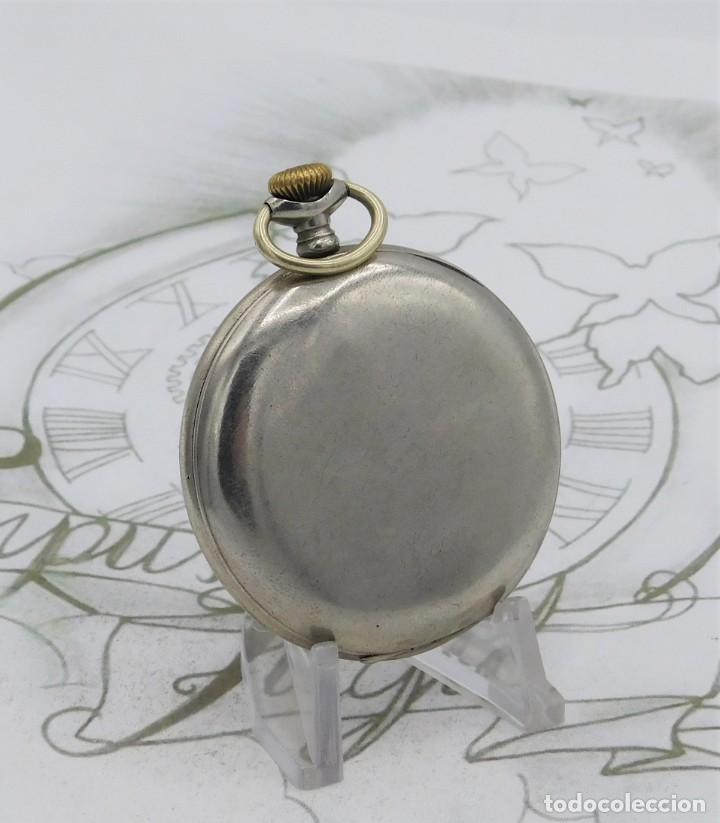 Relojes de bolsillo: RARO-TAVANNES WATCH Co.-RELOJ DE BOLSILLO SABONETA-ESFERA BRAILLE-CIRCA 1920-3 TAPAS-FUNCIONANDO - Foto 2 - 136060330