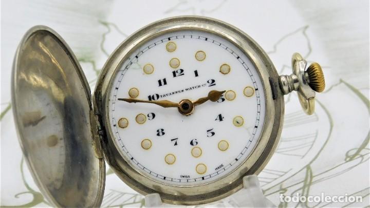 Relojes de bolsillo: RARO-TAVANNES WATCH Co.-RELOJ DE BOLSILLO SABONETA-ESFERA BRAILLE-CIRCA 1920-3 TAPAS-FUNCIONANDO - Foto 10 - 136060330