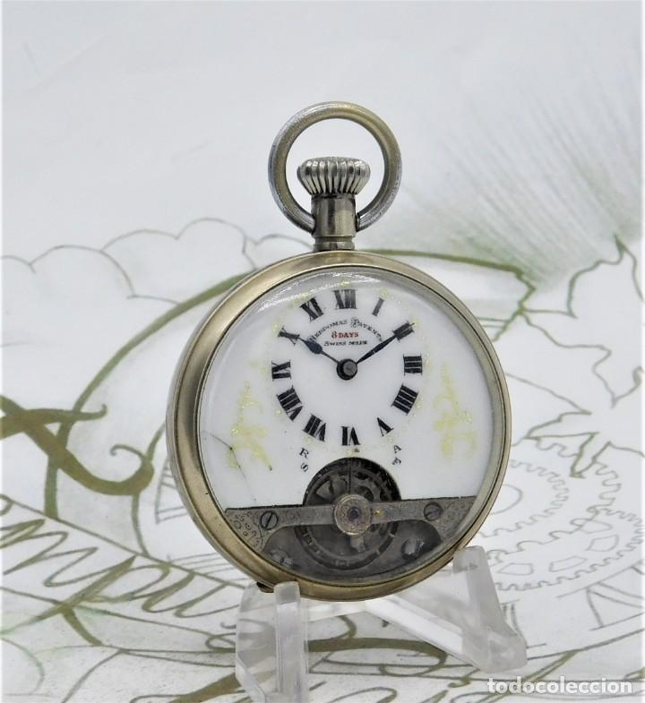 Relojes de bolsillo: HEBDOMAS-RELOJ DE BOLSILLO-8 DÍAS-CIRCA 1920-FUNCIONANDO - Foto 12 - 141717322