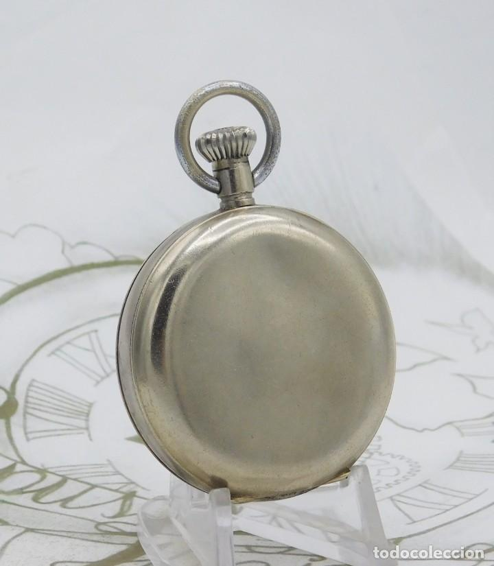 Relojes de bolsillo: HEBDOMAS-RELOJ DE BOLSILLO-8 DÍAS-CIRCA 1920-FUNCIONANDO - Foto 2 - 141717322