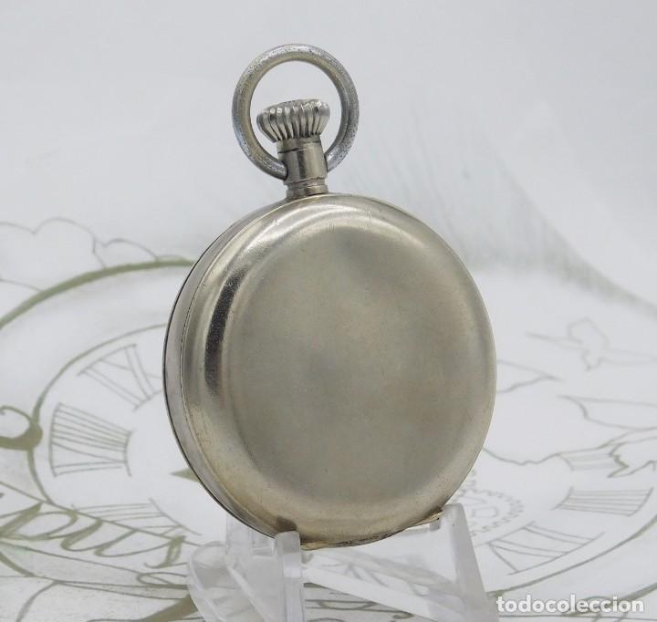 Relojes de bolsillo: HEBDOMAS-RELOJ DE BOLSILLO-8 DÍAS-CIRCA 1920-FUNCIONANDO - Foto 7 - 141717322