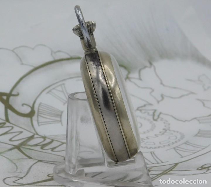 Relojes de bolsillo: HEBDOMAS-RELOJ DE BOLSILLO-8 DÍAS-CIRCA 1920-FUNCIONANDO - Foto 8 - 141717322