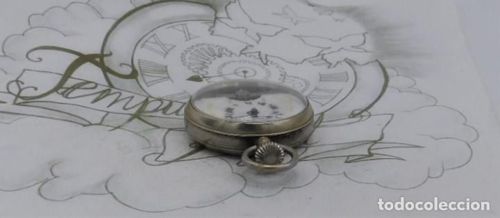 Relojes de bolsillo: HEBDOMAS-RELOJ DE BOLSILLO-8 DÍAS-CIRCA 1920-FUNCIONANDO - Foto 9 - 141717322
