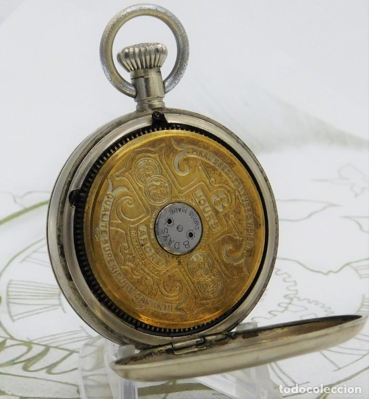 Relojes de bolsillo: HEBDOMAS-RELOJ DE BOLSILLO-8 DÍAS-CIRCA 1920-FUNCIONANDO - Foto 3 - 141717322