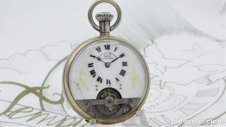 HEBDOMAS-RELOJ DE BOLSILLO-8 DÍAS-CIRCA 1920-FUNCIONANDO (Relojes - Bolsillo Carga Manual)