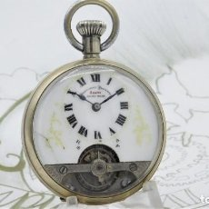 Relojes de bolsillo: HEBDOMAS-RELOJ DE BOLSILLO-8 DÍAS-CIRCA 1920-FUNCIONANDO. Lote 141717322