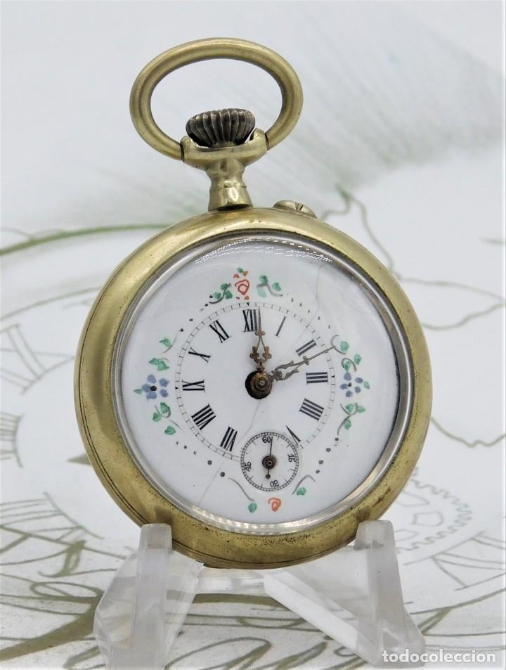 Relojes de bolsillo: MUY BONITO RELOJ DE BOLSILLO-CIRCA 1920-FUNCIONANDO- - Foto 2 - 132199766