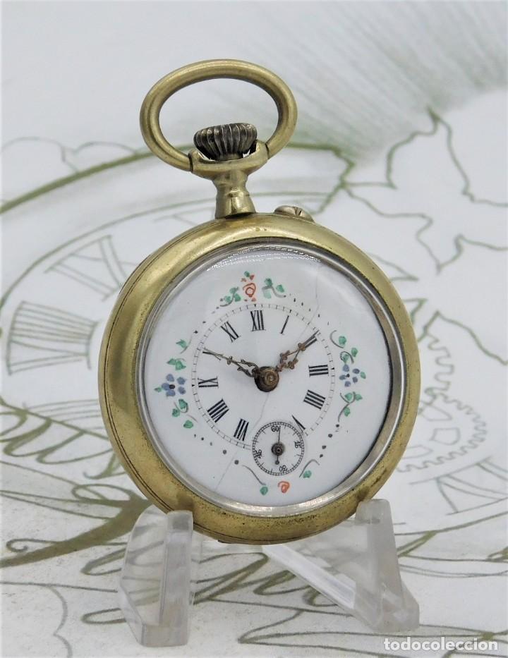 Relojes de bolsillo: MUY BONITO RELOJ DE BOLSILLO-CIRCA 1920-FUNCIONANDO- - Foto 5 - 132199766