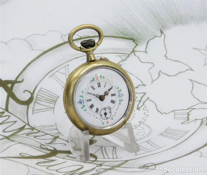 Relojes de bolsillo: MUY BONITO RELOJ DE BOLSILLO-CIRCA 1920-FUNCIONANDO- - Foto 12 - 132199766