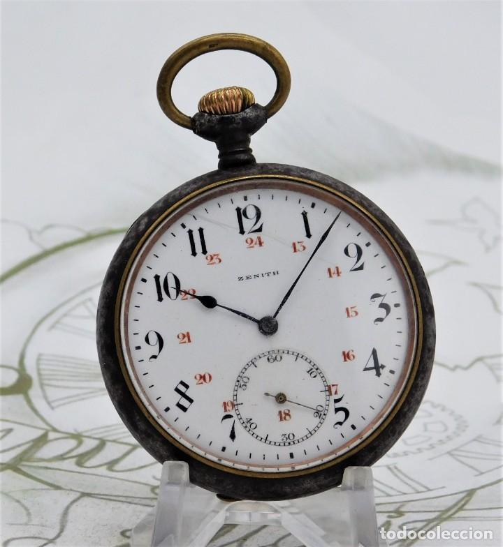 ZENITH-GRAN PRIX 1900-RELOJ DE BOLSILLO-2 TAPAS-CIRCA 1920-FUNCIONANDO (Relojes - Bolsillo Carga Manual)