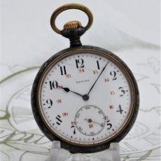 Relojes de bolsillo: ZENITH-GRAN PRIX 1900-RELOJ DE BOLSILLO-2 TAPAS-CIRCA 1920-FUNCIONANDO. Lote 142196926