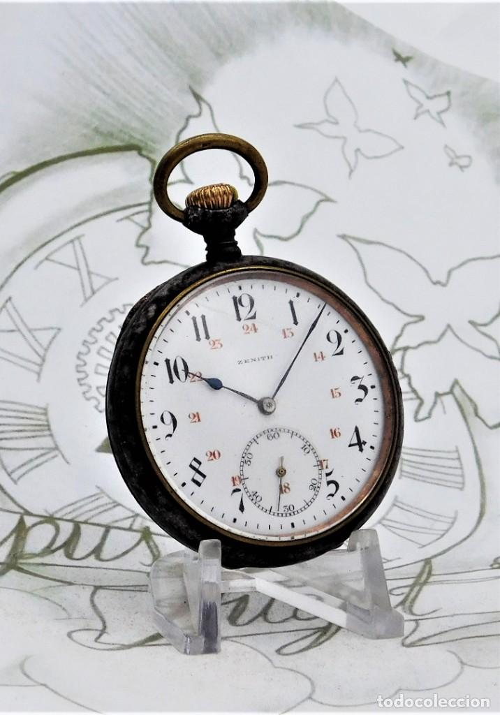 Relojes de bolsillo: ZENITH-GRAN PRIX 1900-RELOJ DE BOLSILLO-2 TAPAS-CIRCA 1920-FUNCIONANDO - Foto 6 - 142196926