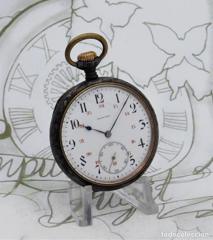 Relojes de bolsillo: ZENITH-GRAN PRIX 1900-RELOJ DE BOLSILLO-2 TAPAS-CIRCA 1920-FUNCIONANDO - Foto 13 - 142196926