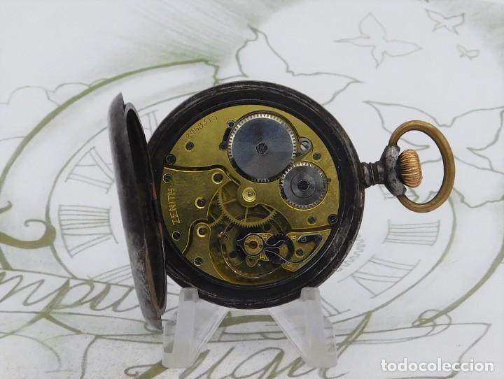 Relojes de bolsillo: ZENITH-GRAN PRIX 1900-RELOJ DE BOLSILLO-2 TAPAS-CIRCA 1920-FUNCIONANDO - Foto 9 - 142196926