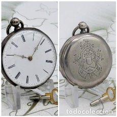 Relojes de bolsillo: RELOJ LEPINE CYLINDRE-DE PLATA-CIRCA 1890-3 TAPAS-FRANCIA-FUNCIONANDO-MAESTROS RELOJEROS FRANCESES. Lote 130790888