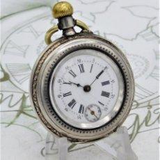 Relojes de bolsillo: PRECIOSO RELOJ DE BOLSILLO-DE PLATA-3 TAPAS-CIRCA 1890-1900-FUNCIONANDO.. Lote 124562015