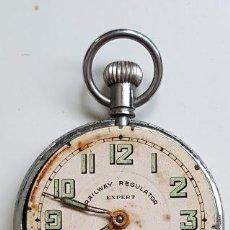 Relojes de bolsillo: RELOJ DE BOLSILLO RAILWAY REGULATOR MODELO EXPERT - CON DETALLES, PERO FUNCIONANDO. Lote 254641950