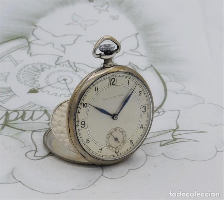 CHRONOMETRE-RELOJ DE BOLSILLO -FRANCIA-2 TAPAS-CIRCA 1930-FUNCIONANDO (Relojes - Bolsillo Carga Manual)