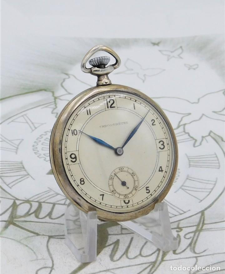 Relojes de bolsillo: CHRONOMETRE-RELOJ DE BOLSILLO -FRANCIA-2 TAPAS-CIRCA 1930-FUNCIONANDO - Foto 6 - 130794936