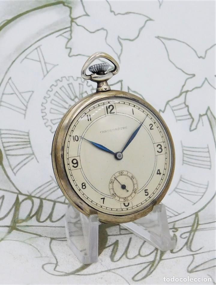 Relojes de bolsillo: CHRONOMETRE-RELOJ DE BOLSILLO -FRANCIA-2 TAPAS-CIRCA 1930-FUNCIONANDO - Foto 11 - 130794936