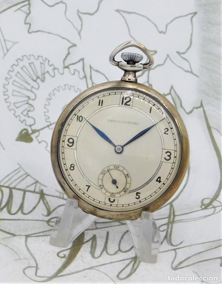 Relojes de bolsillo: CHRONOMETRE-RELOJ DE BOLSILLO -FRANCIA-2 TAPAS-CIRCA 1930-FUNCIONANDO - Foto 8 - 130794936