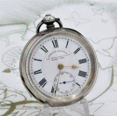 Relojes de bolsillo: J.G.GRAVES-RELOJ DE BOLSILLO-DE PLATA-CIRCA 1880-FUNCIONANDO. Lote 186372993
