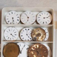 Relojes de bolsillo: LOTE DE 22 MAQUINAS DE RELOJ BOLSILLO DE ORO ANTIGUAS A12. Lote 186413997