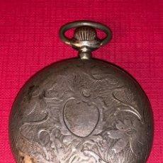 Relojes de bolsillo: ANTIGUO RELOJ DE BOLSILLO DE PLATA DE 3 TAPAS ALERION. FUNCIONA. Lote 186434626