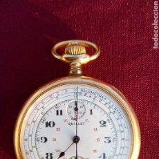 Relojes de bolsillo: RELOJ BOLSILLO CRONÓGRAFO QUILLET. Lote 187473642