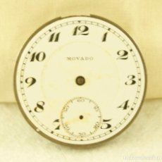 Relojes de bolsillo: MOVADO MAQUINA + ESFERA + TAPA FIRMADAS 38MM N16. Lote 187843958