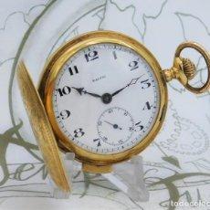 Relojes de bolsillo: SONERÍA A CUARTOS Y MINUTOS-DE ORO 18K-RELOJ DE BOLSILLO BALTIC-SABONETA-CIRCA 1910-FUNCIONANDO. Lote 188430046